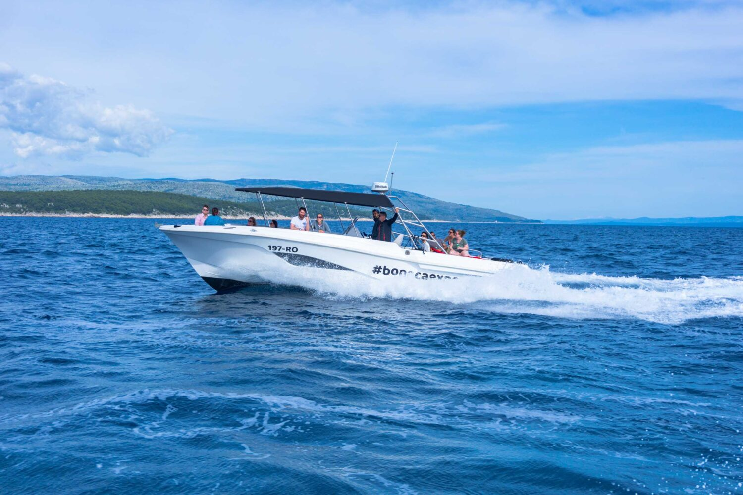 Blue Cave Tour from Split and Trogir cruising from Hvar Island
